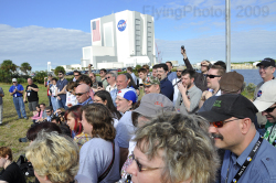 Some of the 100 Twitter users invited by NASA to attend the launch of STS-129 Space Shuttle Atlantis. Photo by Paul Thompson (@FlyingPhotog)