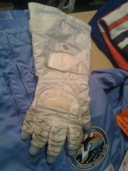 Glove that may have flown, but definitely was used in the Neutral Buoyancy Laboratory. Photo by Shannon D. Moore